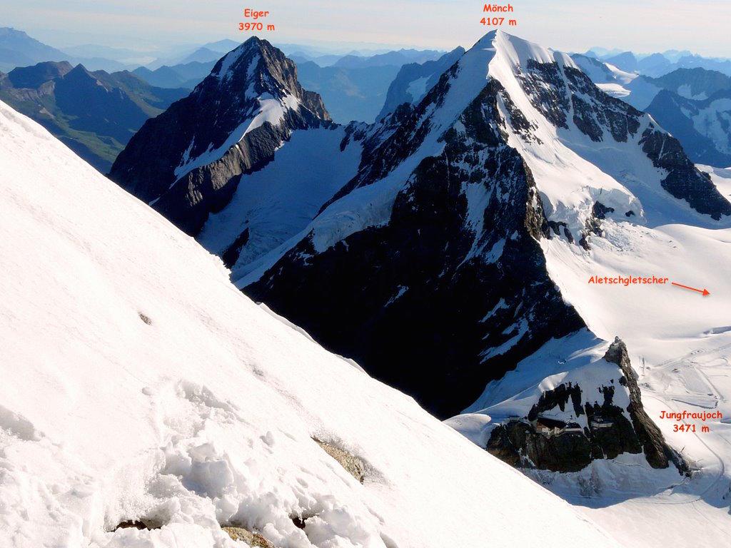 Arrivée de la Jungfraubahn au col Jungfraujoch (3454 m)