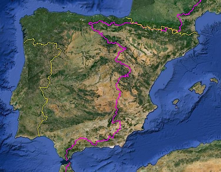 La ligne A/M en Espagne