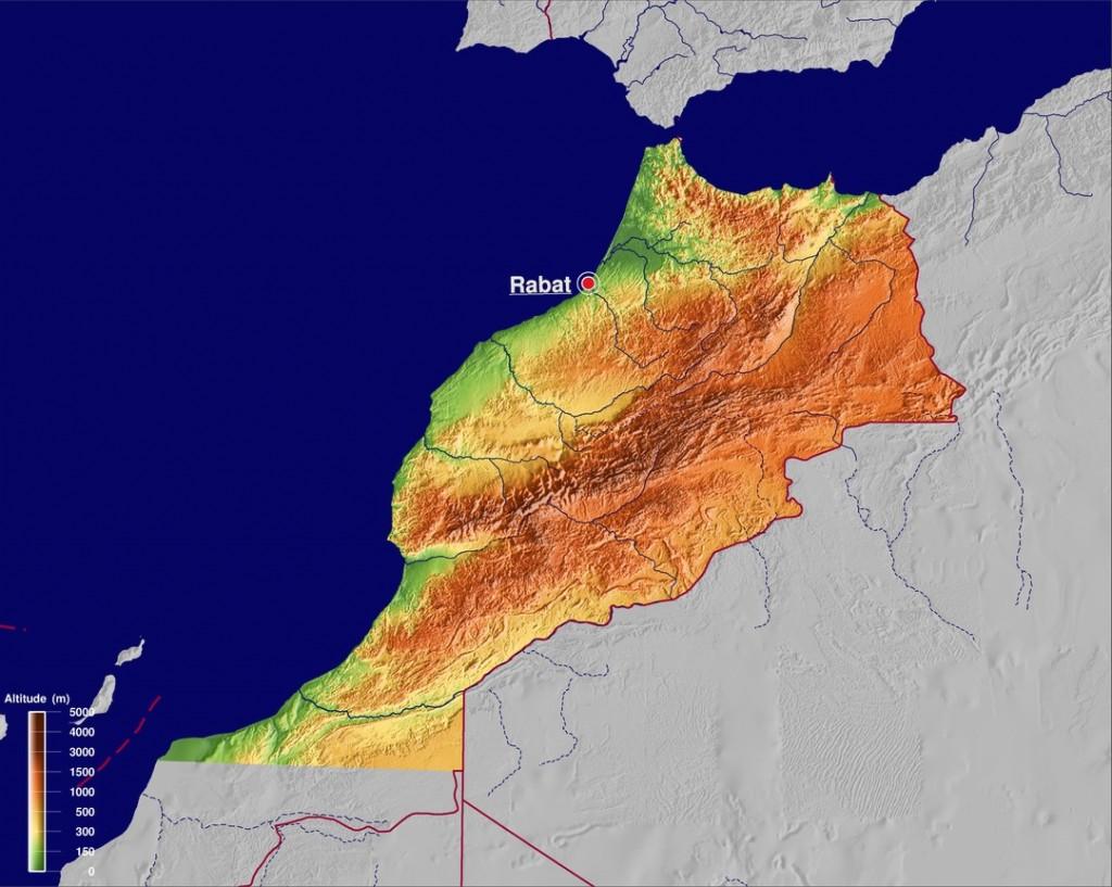 carte Maroc - source GinkgoMaps – http://www.ginkgomaps.com