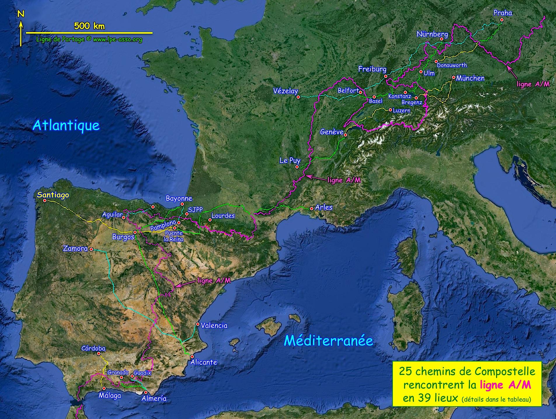 Ligne A/M et Compostelle... ©Pierre-Louis Blaix pour Ligne de Partage