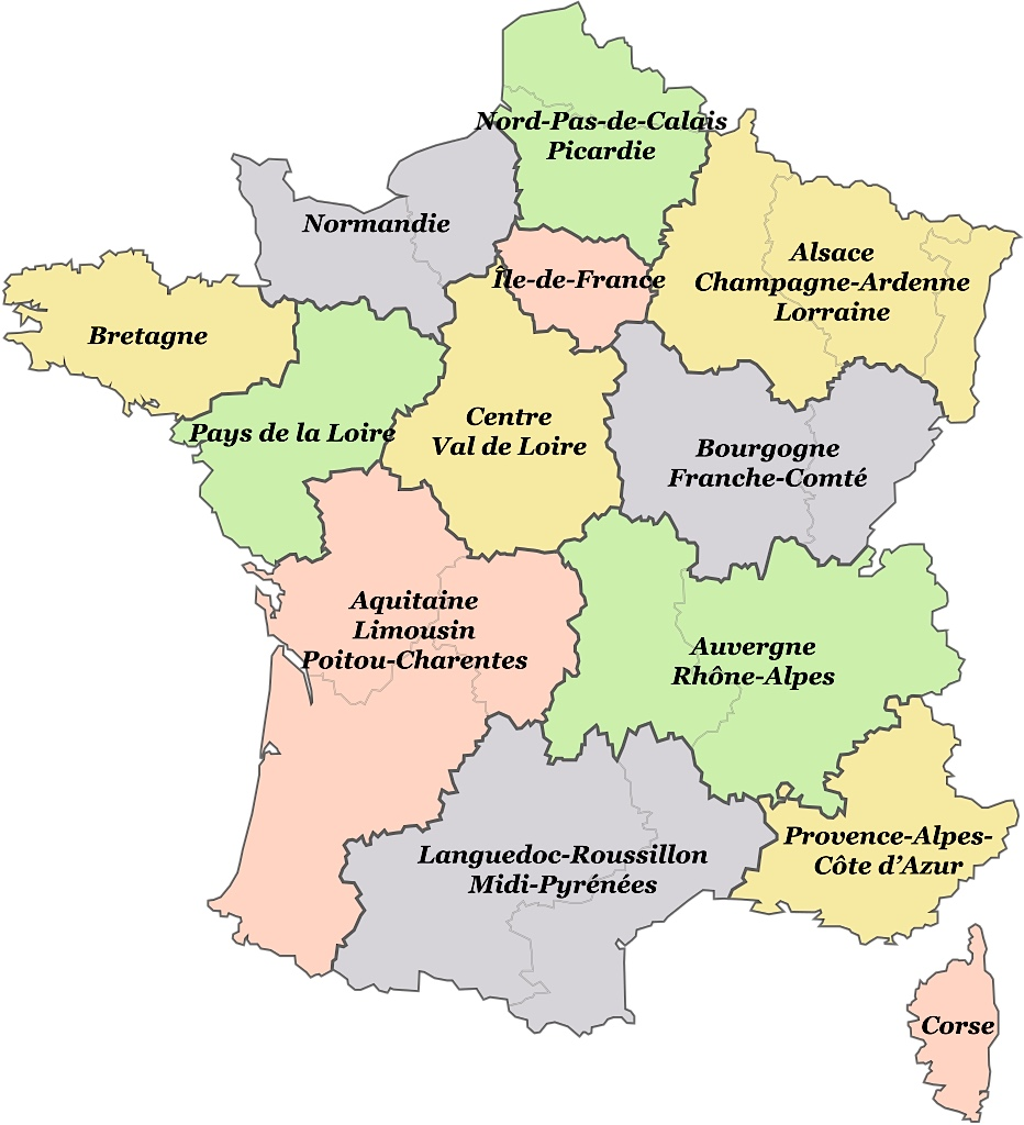 Cartes régions france