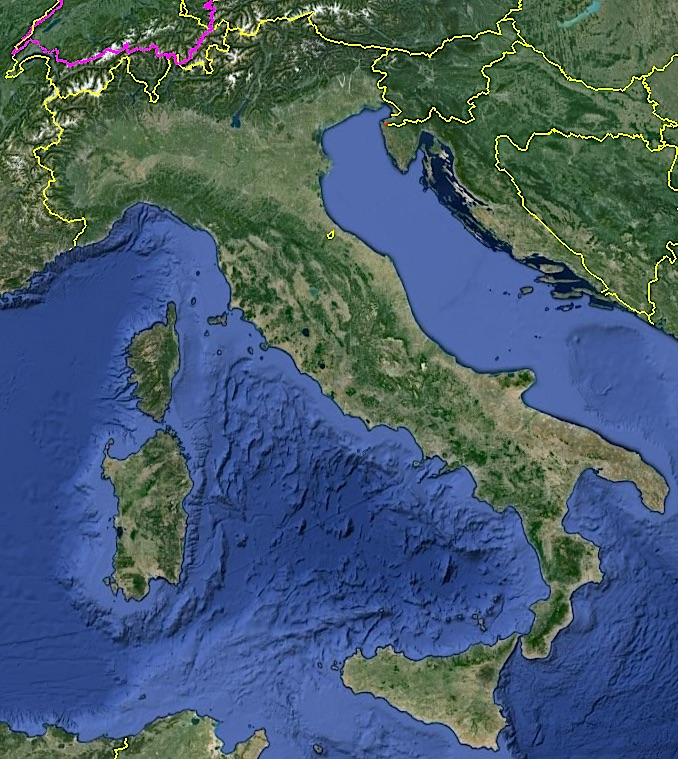 Italie avec la ligne