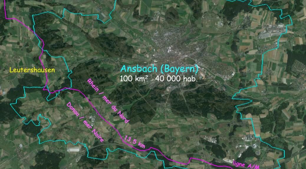 Ansbach est la commune de la ligne A/M la plus peuplée de Bayern. Elle est jumelée avec Anglet (France), siège de notre association.
