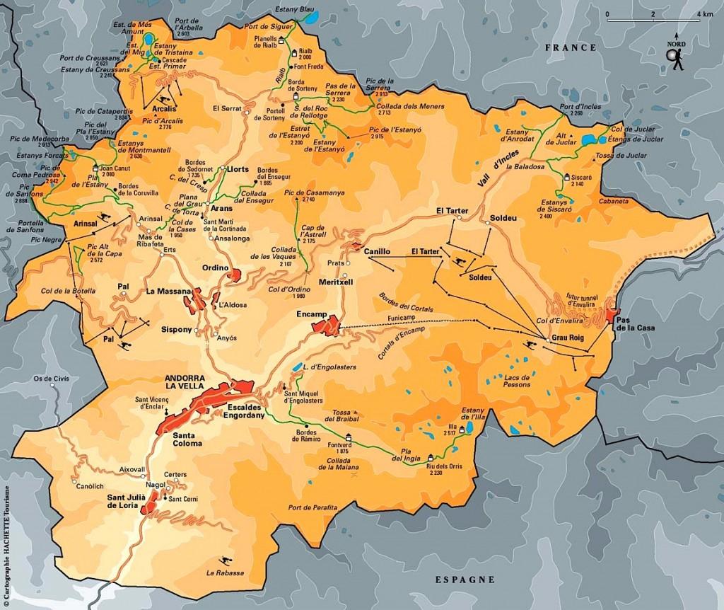 Carte Andorre