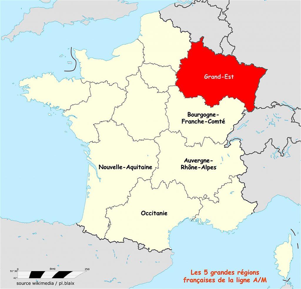 Carte 5 régions et grand est