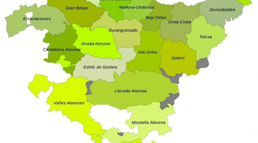Carte comarcas euskadi