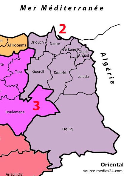 Carte oriental maroc