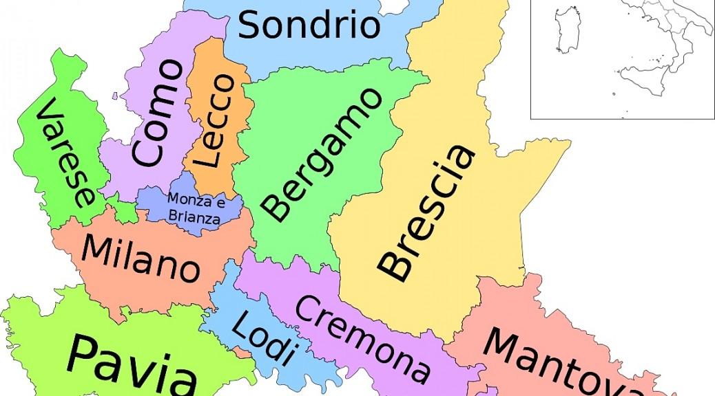 Carte provinces lombardia