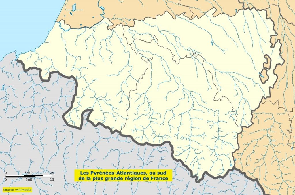 Carte pyrenees atlantiques