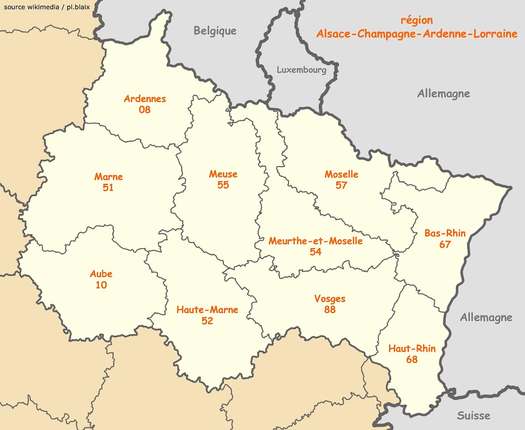 Carte Alsace Departement.Grand Est Ligne De Partage