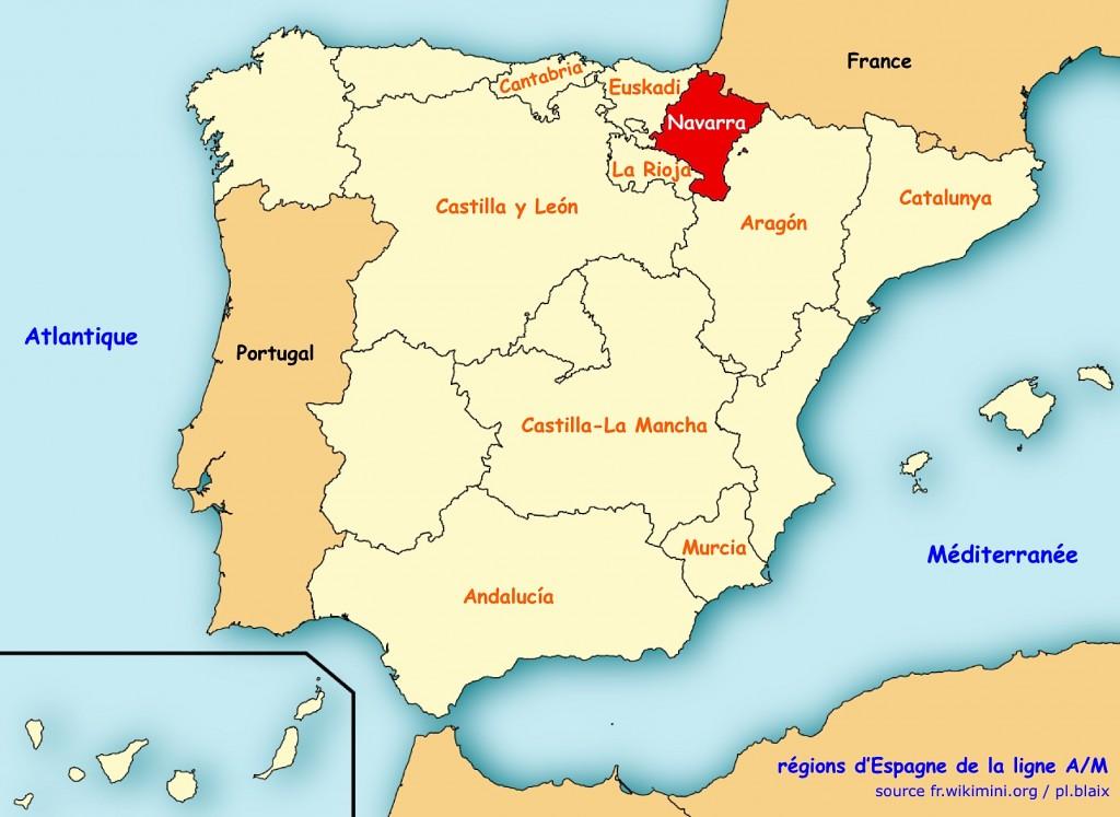 Carte regions navarra