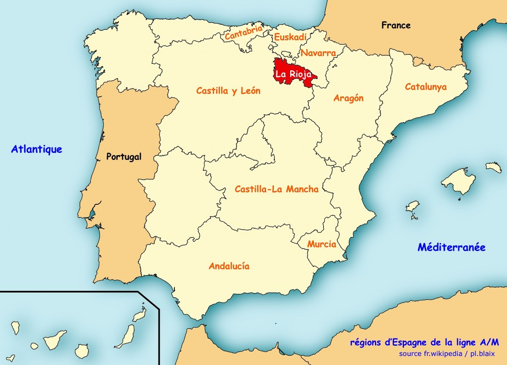 Carte regions rioja
