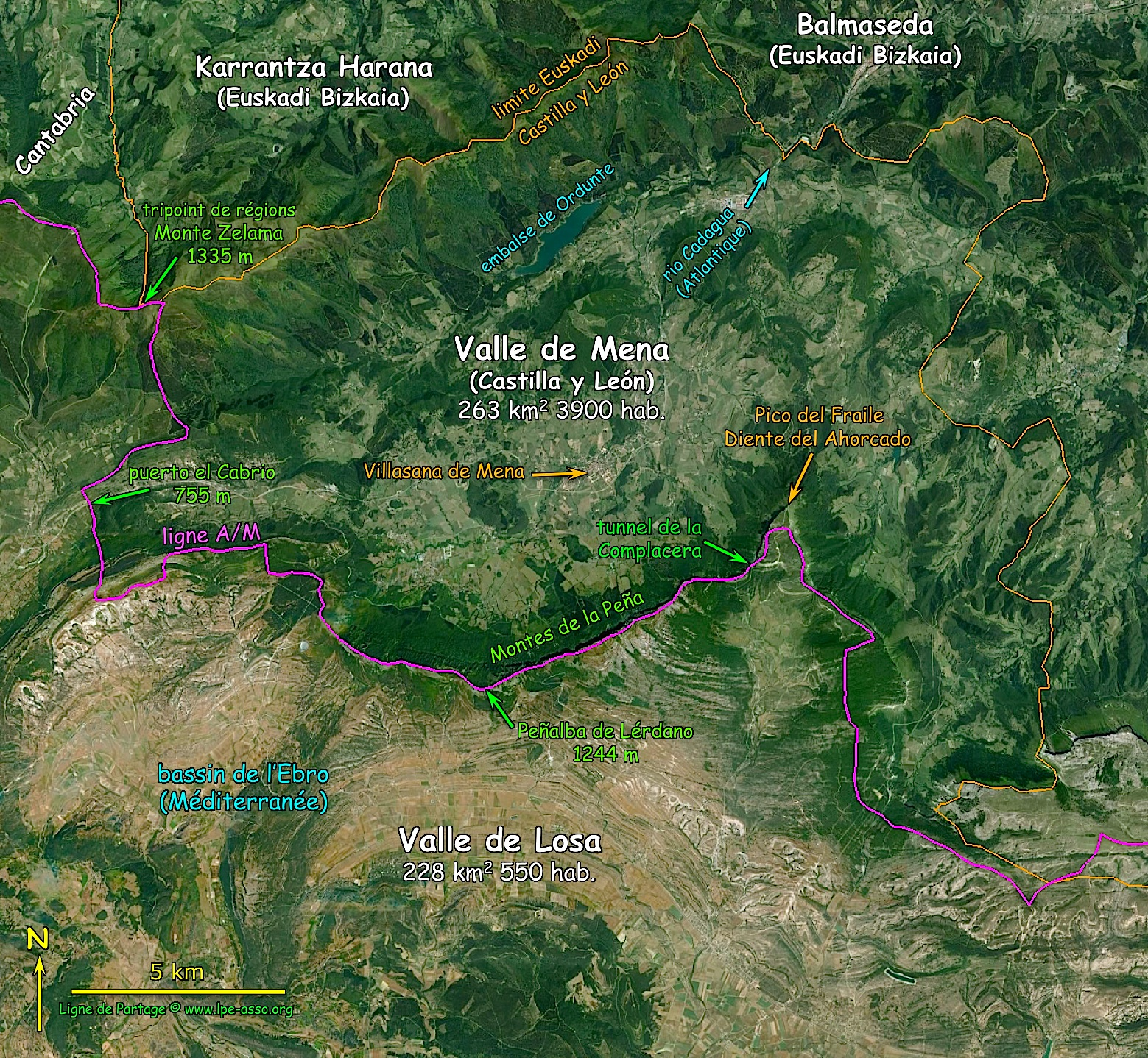 Carte valle de mena