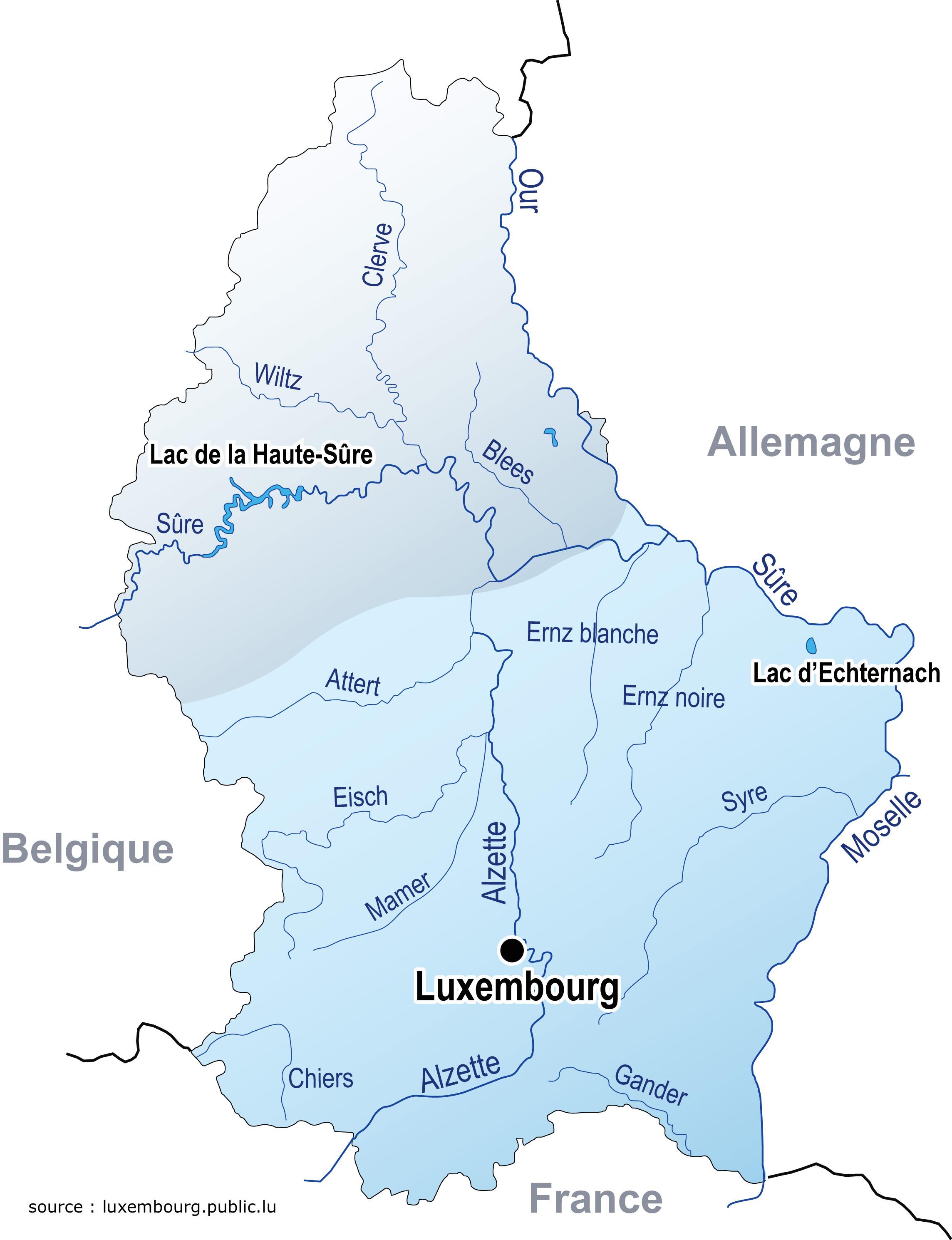 Le Grand-Duché de Luxembourg, pays orphelin de fleuves.
