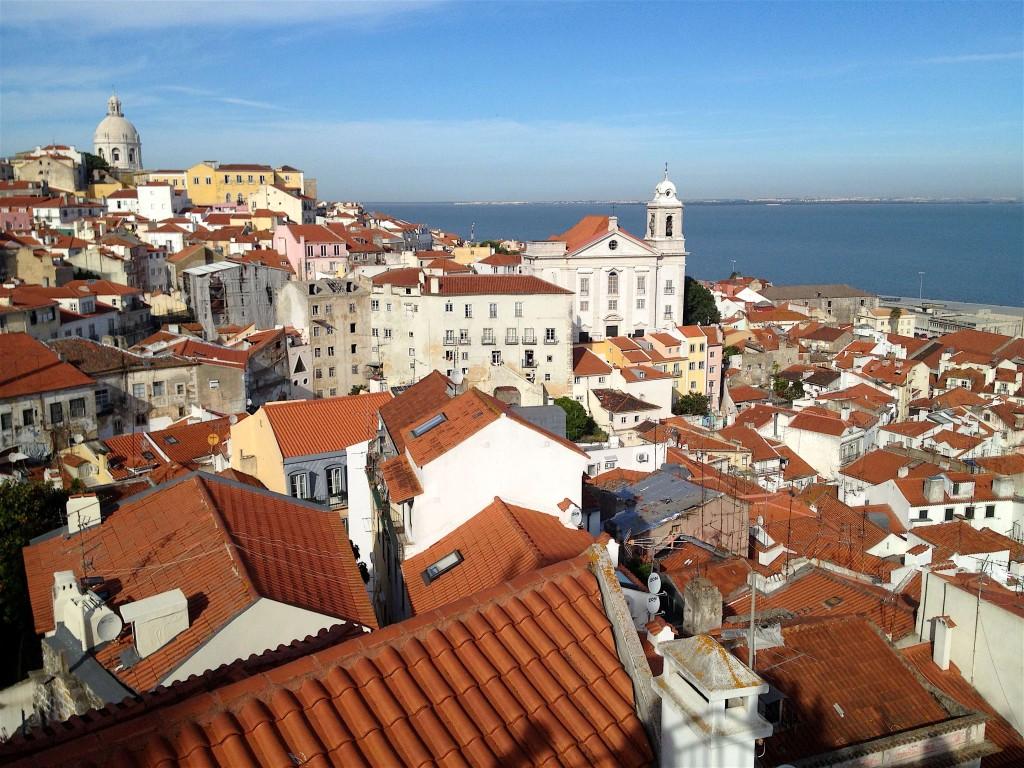 """Lisboa et la """"mer de Paille"""", estuaire du Tajo"""