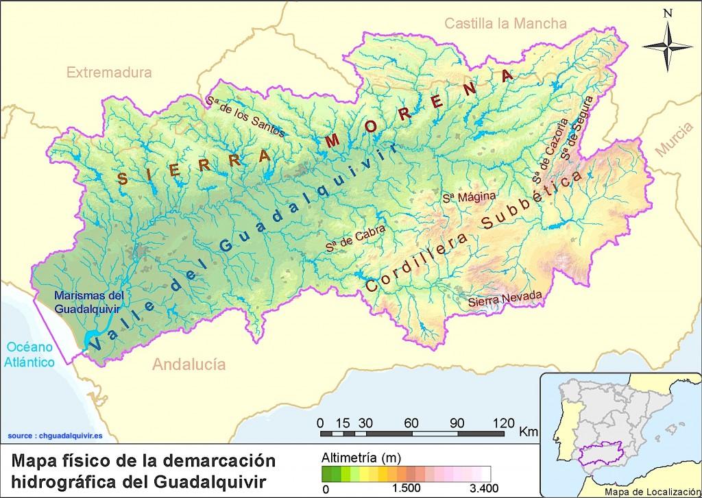carte bassin guadalquivir