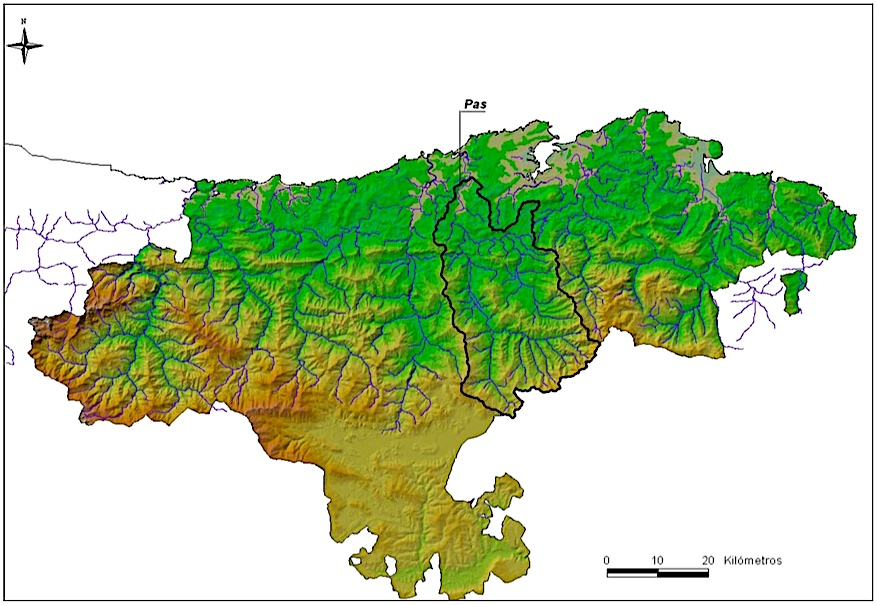 Le bassin du río Pas en Cantabria (source medioambientecantabria)