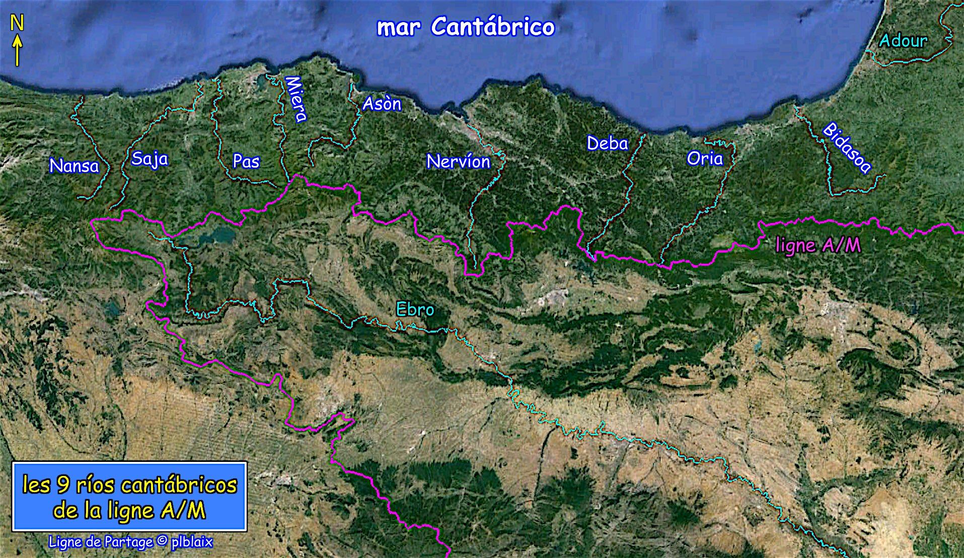 Carte rios cantabricos