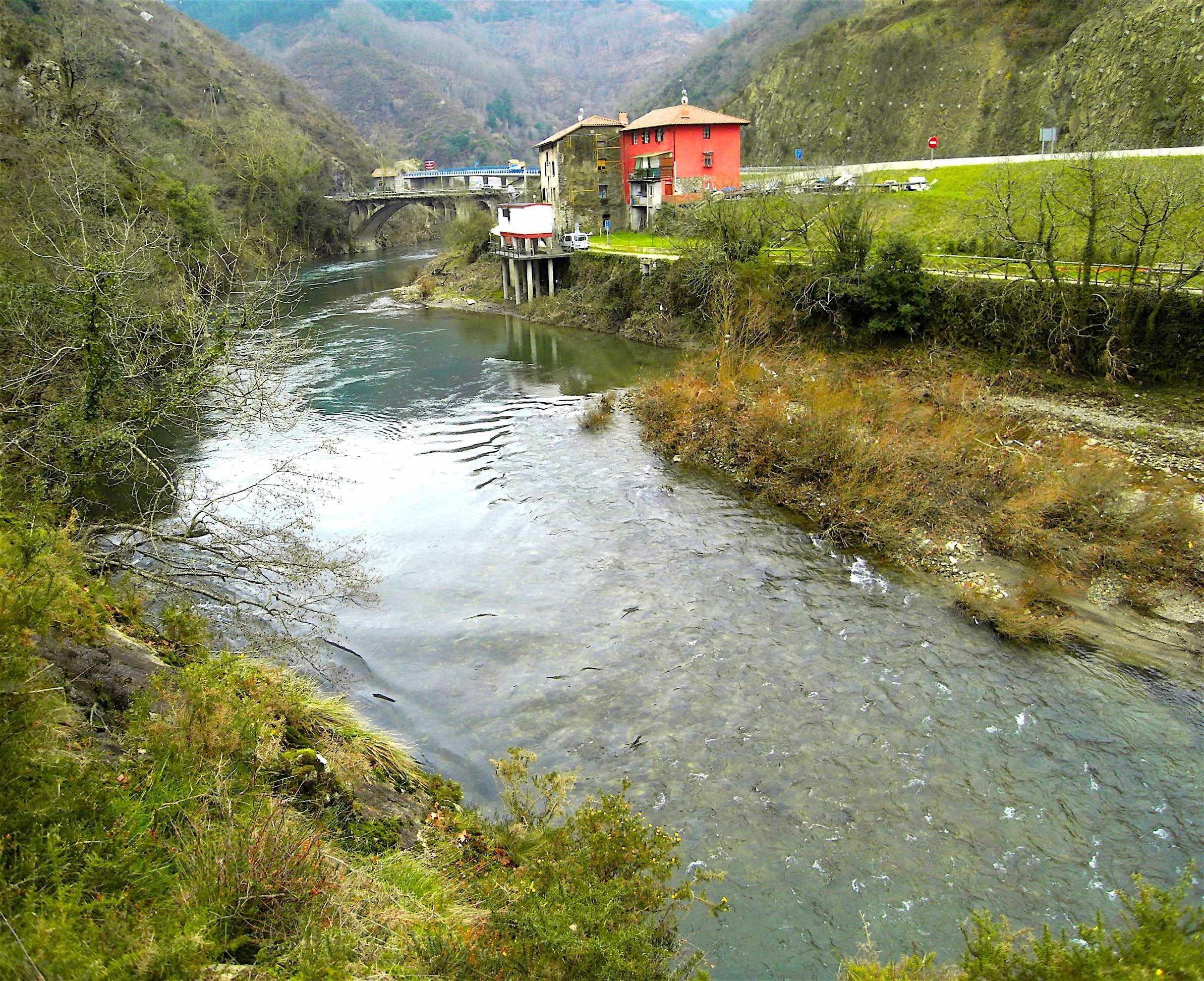 La Bidasoa à Endarlatza vue depuis la borne n°1 © plblaix