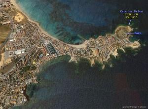Le Cabo de Palos, extrémité sud-est de l'Espagne continentale