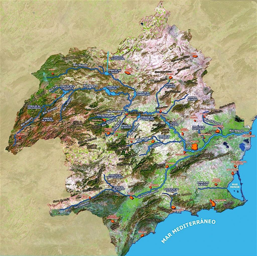 Belle représentation du bassin du río Segura (source netmaps)