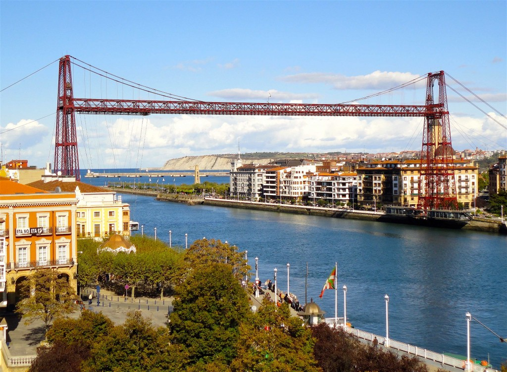 Puente Colgante sur le ría del Nervión entre Portugalete et Getxo (wikimedia)