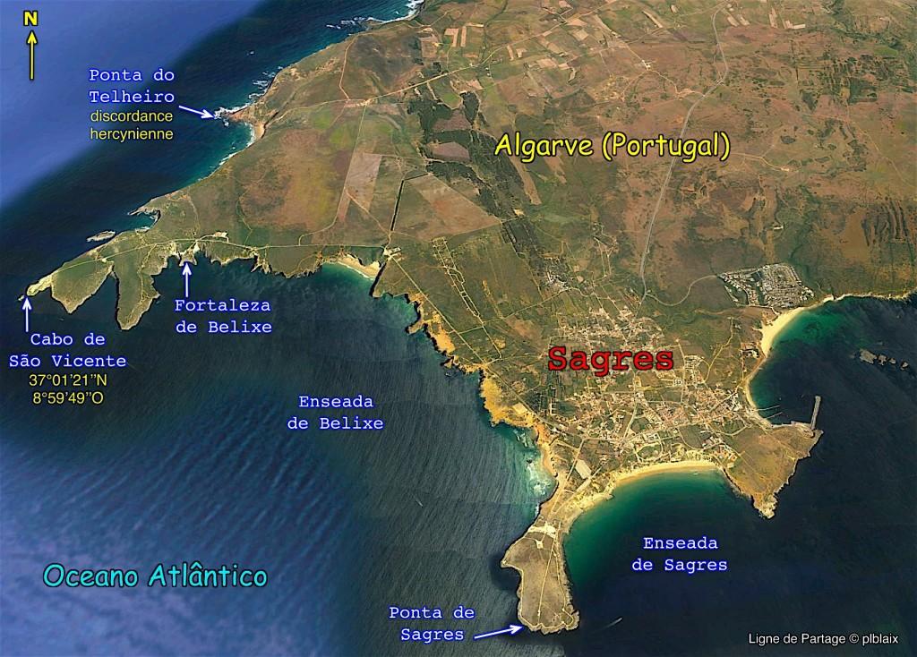 Pointe sud-ouest de l'Europe sur la commune de Sagres.
