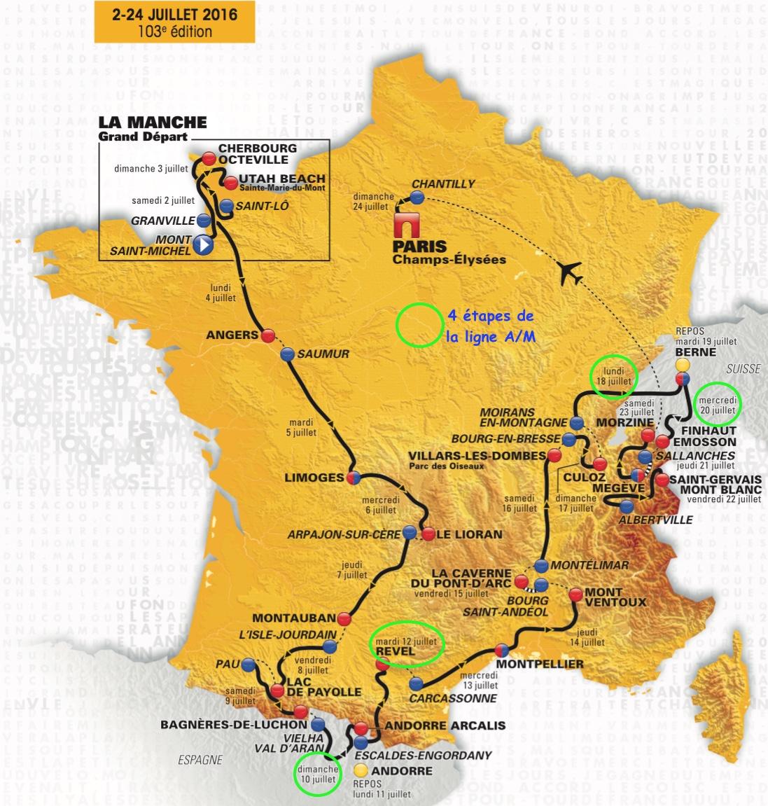 Carte du tour 2016