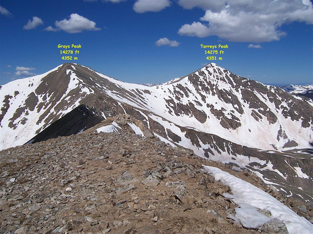 Grays Peak depuis Mt Edwards source