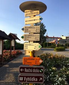 Colonne traditionnelle de panneaux très soignés... Le partage A/M est vers Valdorf...