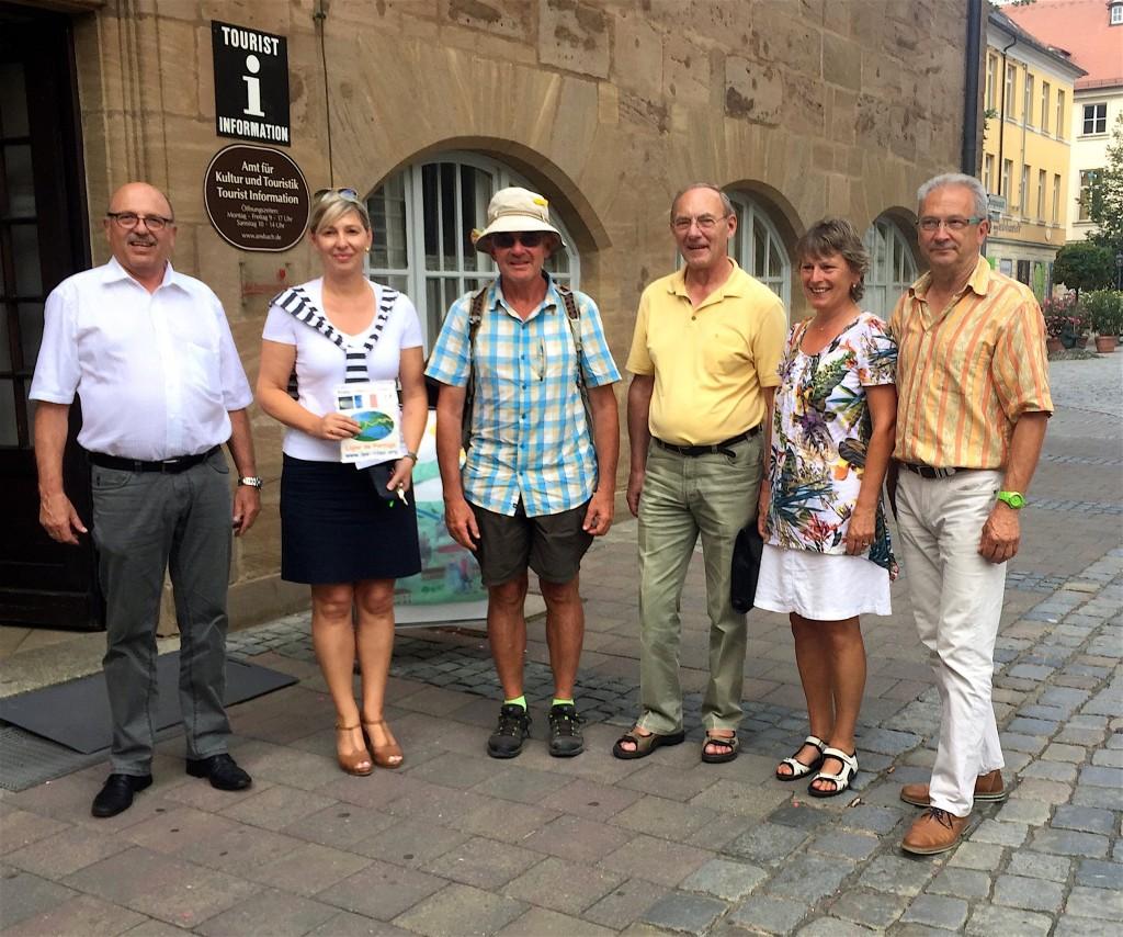 A Ansbach avec les amis d'Anglet et le Maire de Leutershausen