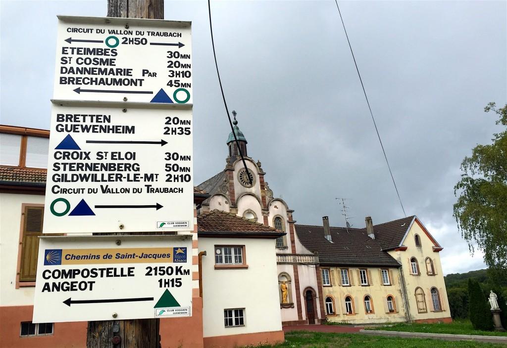 Le couvent de Bellemagny héberge aussi les marcheurs au long cours...