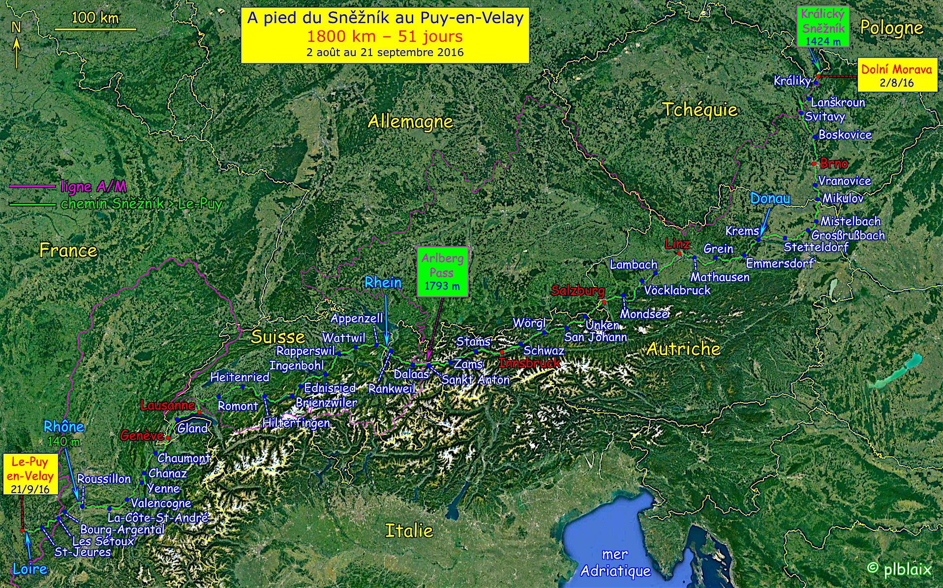 carte-chemin-sneznik-le-puy