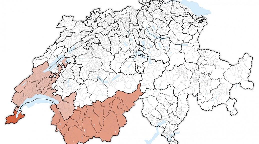 Carte region lemanique